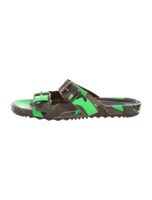 128d2efed94d9 Valentino Camouflage Buckle Strap Sandals - Shoes - VAL76348 | The ...