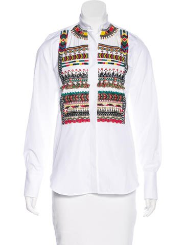 Valentino Embellished Long Sleeve Top None
