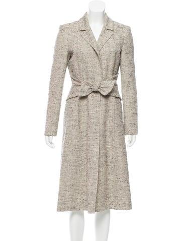 Valentino Silk Button-Up Coat None