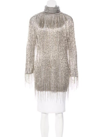 Valentino Embellished Oversize Sweater w/ Tags None