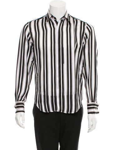 Valentino Striped French Cuff Shirt w/ Tags None