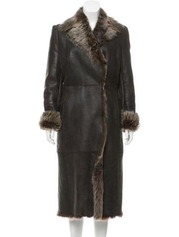 Valentino Coated Shearling Coat None