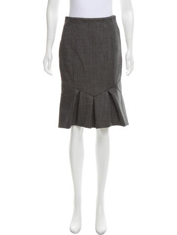 Valentino Silk-Trimmed Patterned Skirt Suit None