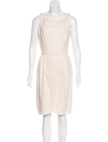 Valentino A-Line Wool Dress None