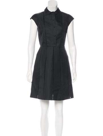 Valentino Silk Collared Dress None