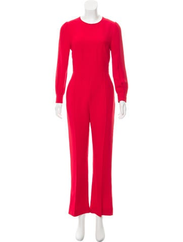 Valentino Silk Wide-Leg Jumpsuit None