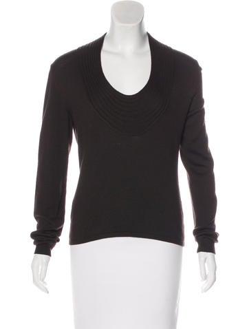Valentino Scoop Neck Knit Sweater None