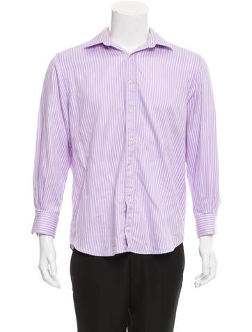 Valentino Striped Button-Up Shirt None