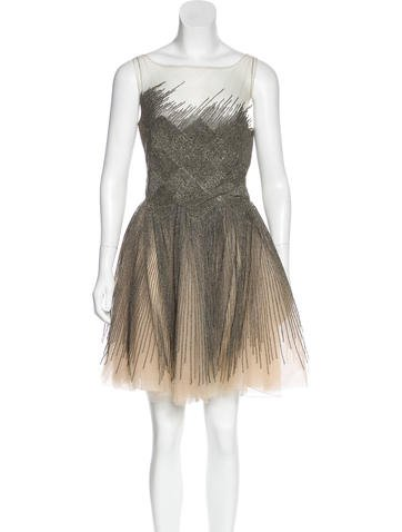 Valentino Embellished Tulle Dress None