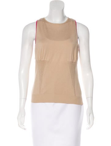 Valentino Sleeveless Knit Top w/ Tags None