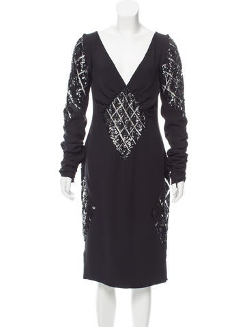 Valentino Silk Embellished Dress None