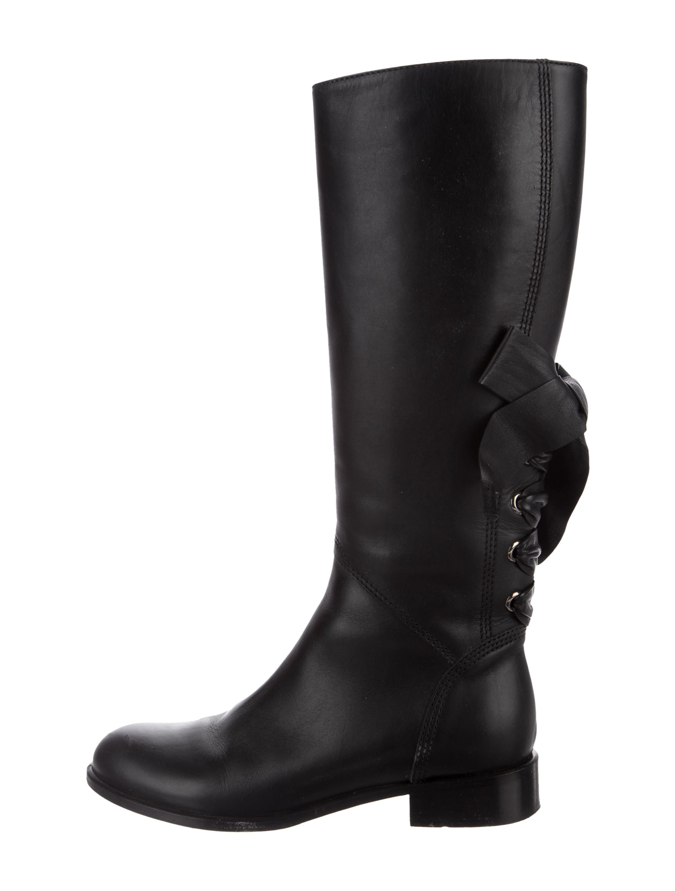 recommend Valentino Bow-Accented Knee-High Boots sale 100% original discount low price fee shipping RsyJvRL3M