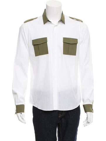 Valentino Utility Button-Up Shirt None