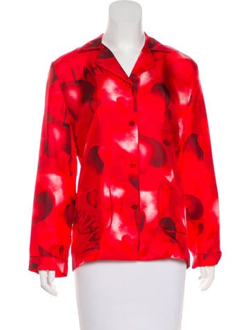 Valentino Silk L'Amour Print Blouse w/ Tags None