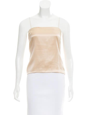 Valentino Sleeveless Satin Top None