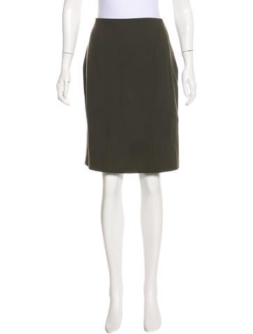 Valentino Virgin Wool Pencil Skirt None