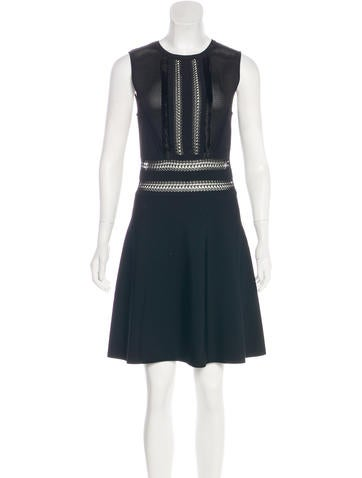 Valentino Knit Crochet-Trimmed Dress w/ Tags None
