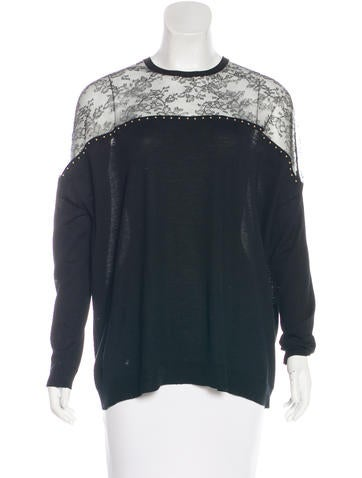 Valentino Wool Knit Long Sleeve Top None