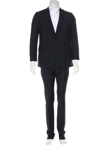 Valentino Virgin Wool Suit None