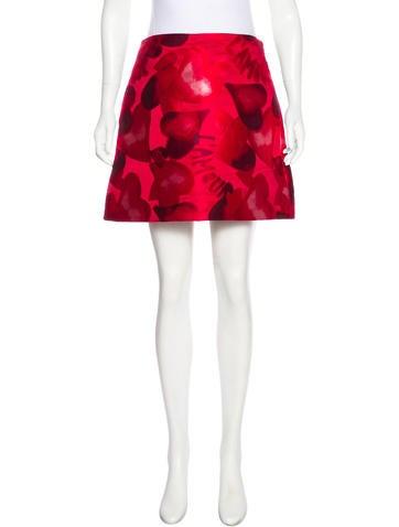 Valentino Camuamour Mini Skirt None