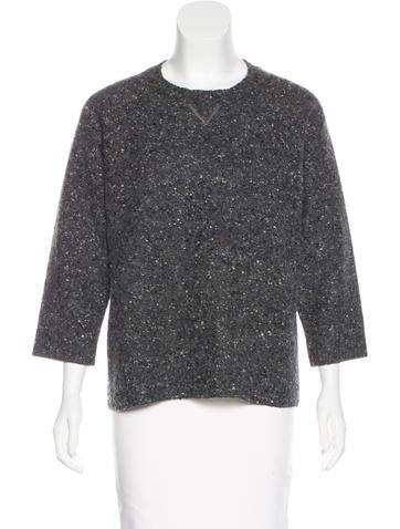 Valentino Virgin Wool Bouclé Sweater None
