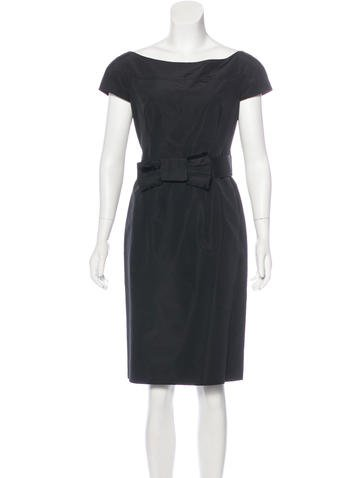 Valentino Belted Sheath Dress None
