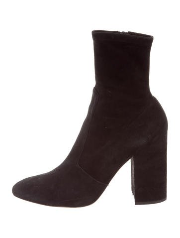 Valentino Suede Round-Toe Ankle Boots buy cheap buy professional cheap price 1Rvf68cez