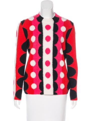 Valentino Intarsia Wool Sweater None