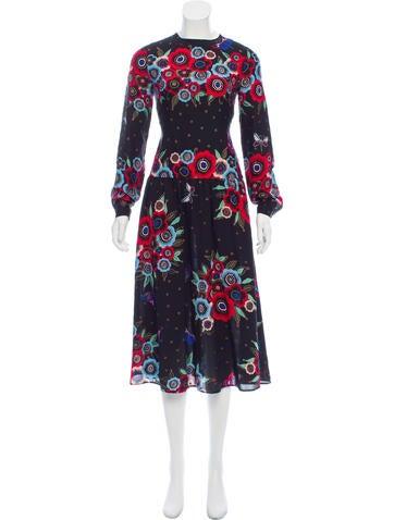 Valentino Silk Midi Dress None