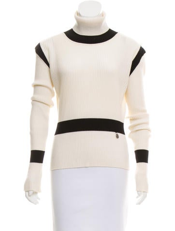 Valentino Colorblock Turtleneck Sweater None
