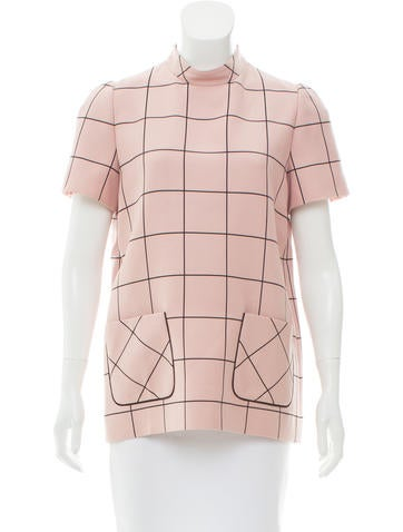 Valentino Printed Wool Top None