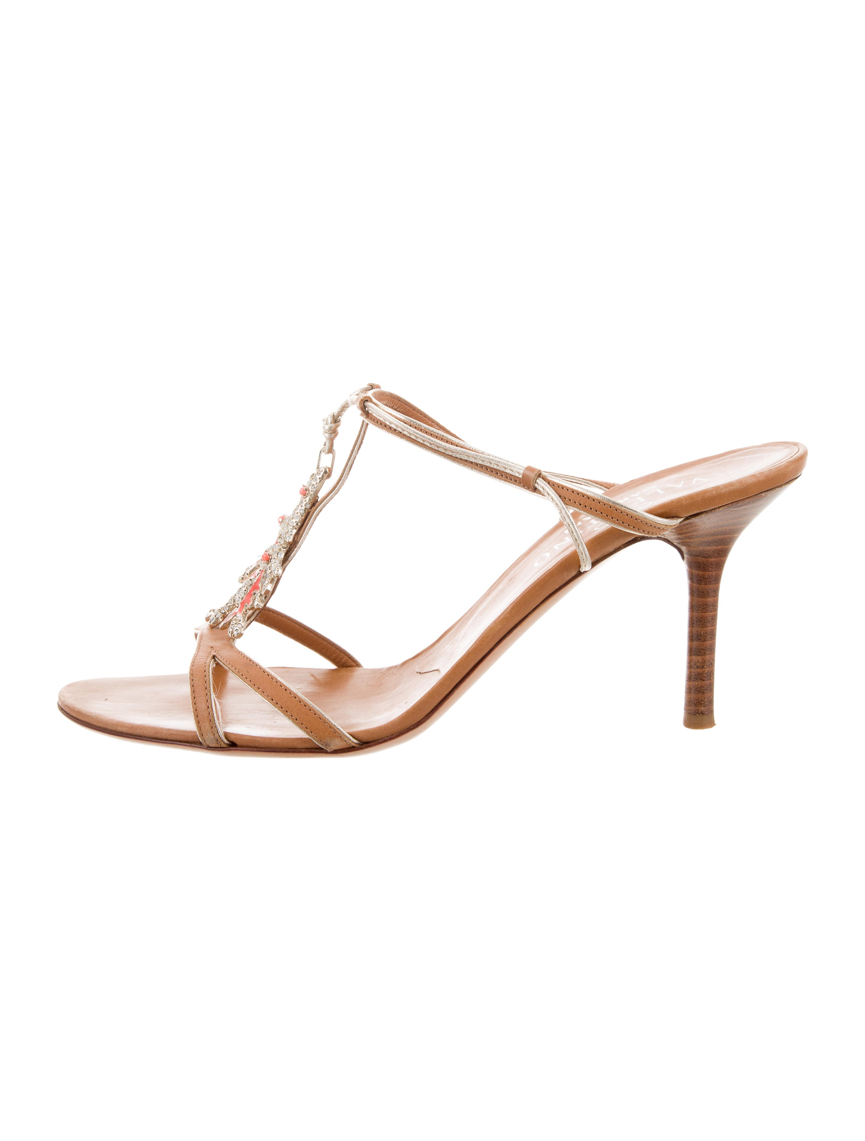 Valentino Embellished Slide Sandals outlet explore outlet free shipping authentic KAufOhiY1R