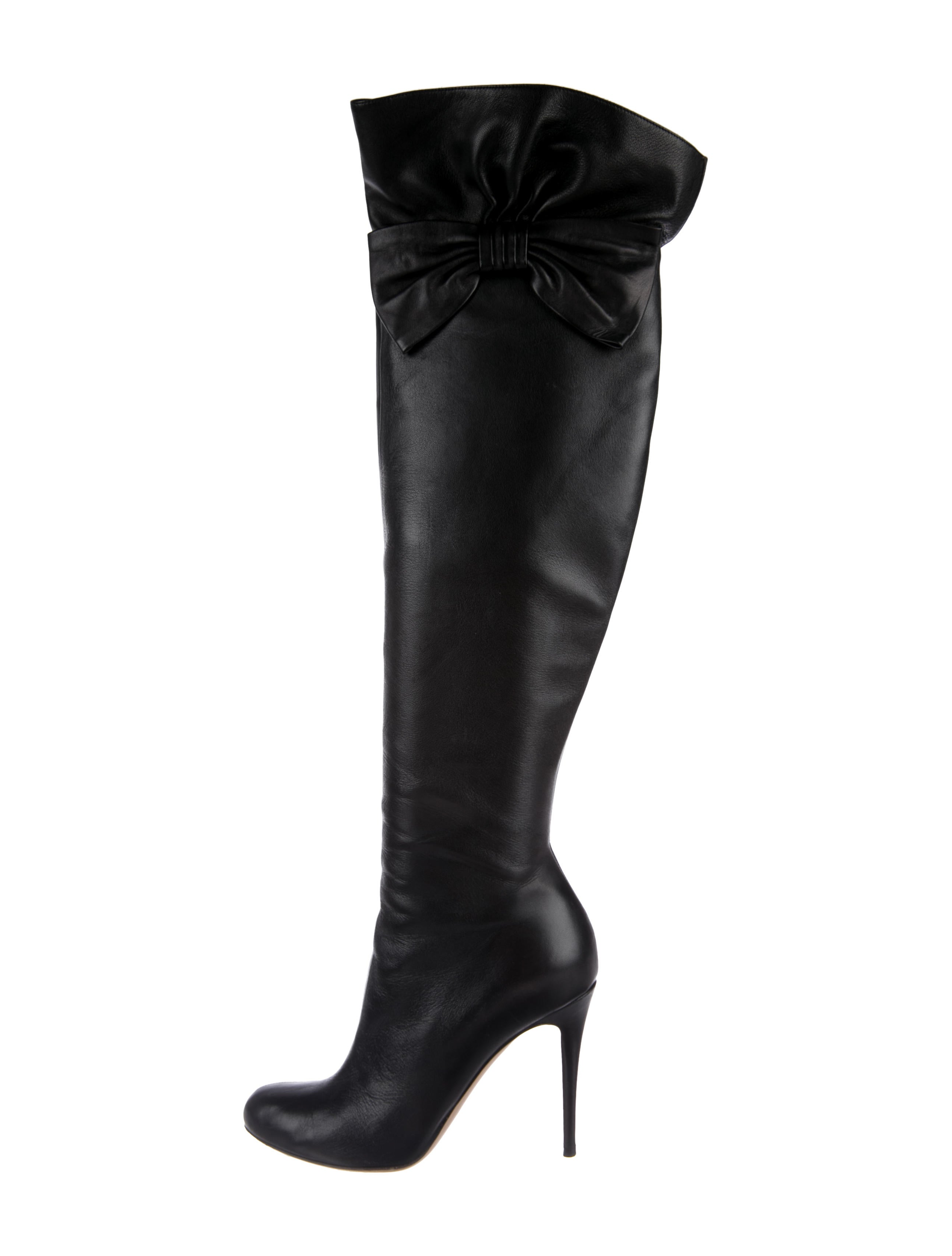 ebay sale online Valentino Bow-Accented Over-The-Knee Boots cheap sale big sale official for sale aJ3Bo7V