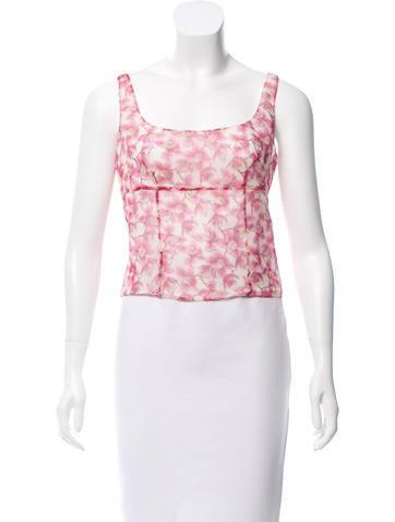 Valentino Floral Silk Top w/ Tags None