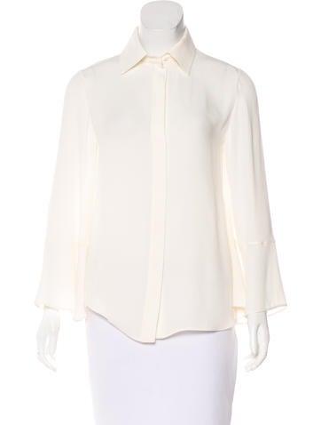 Valentino Silk Bell Sleeve Top None