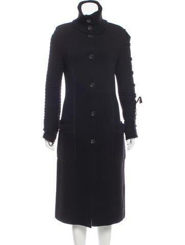 Valentino Knit Long Coat None