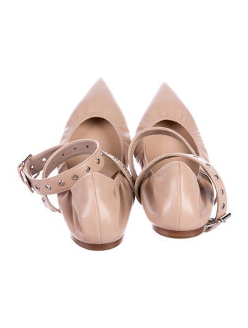 Valentino Love Latch Leather Flats w/ Tags cheap official site under $60 cheap online krbjC