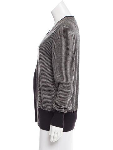 V-Neck Wool Cardigan