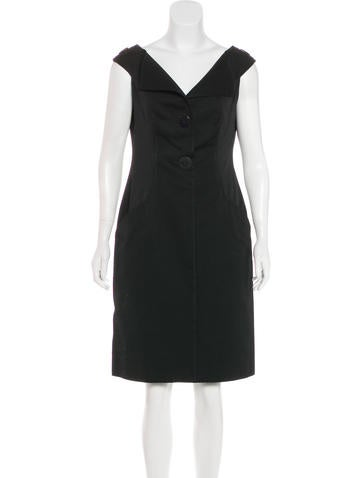 Valentino Off-The-Shoulder Sheath Dress None