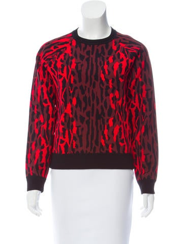 Valentino Printed Knit Sweater None