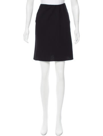 Valentino Virgin Wool Mini Skirt None