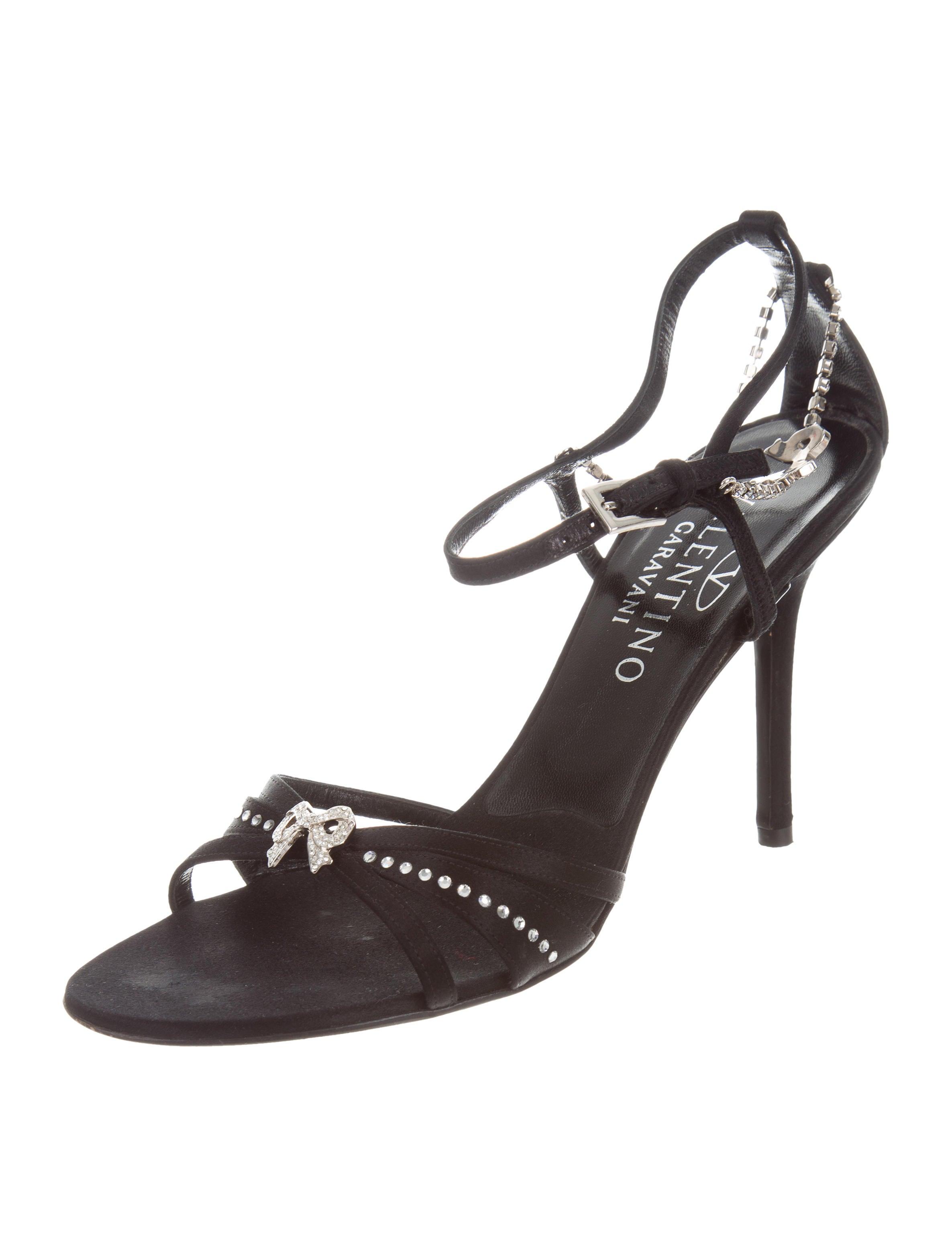 Valentino Satin Jewel-Embellished Sandals cheap sale for cheap M1lJoCVgsY