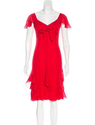 Valentino Silk Knee-Length Dress None