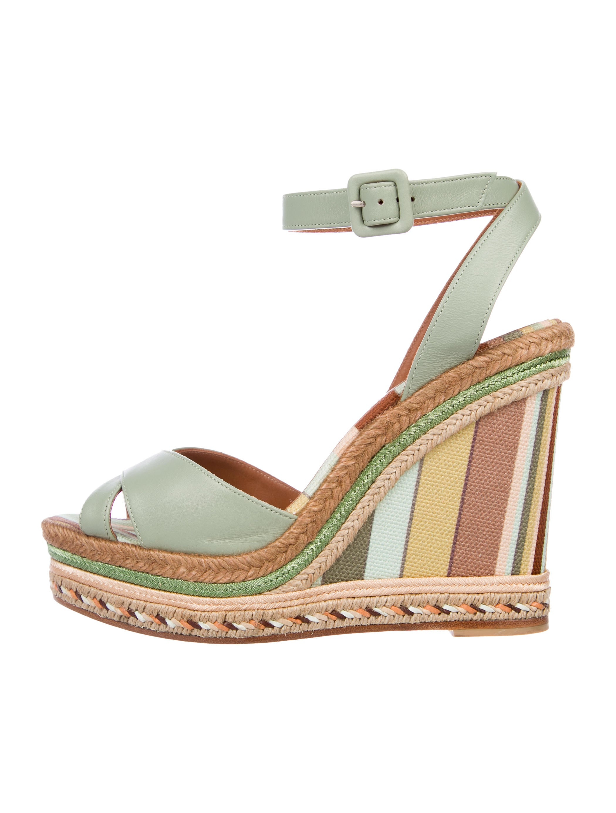 5642ed2e293 Valentino Native Couture 1975 Espadrille Wedge Sandals - Shoes ...
