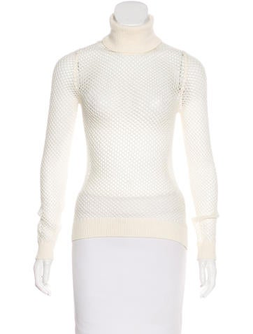 Valentino Open Knit Turtle Neck Top None