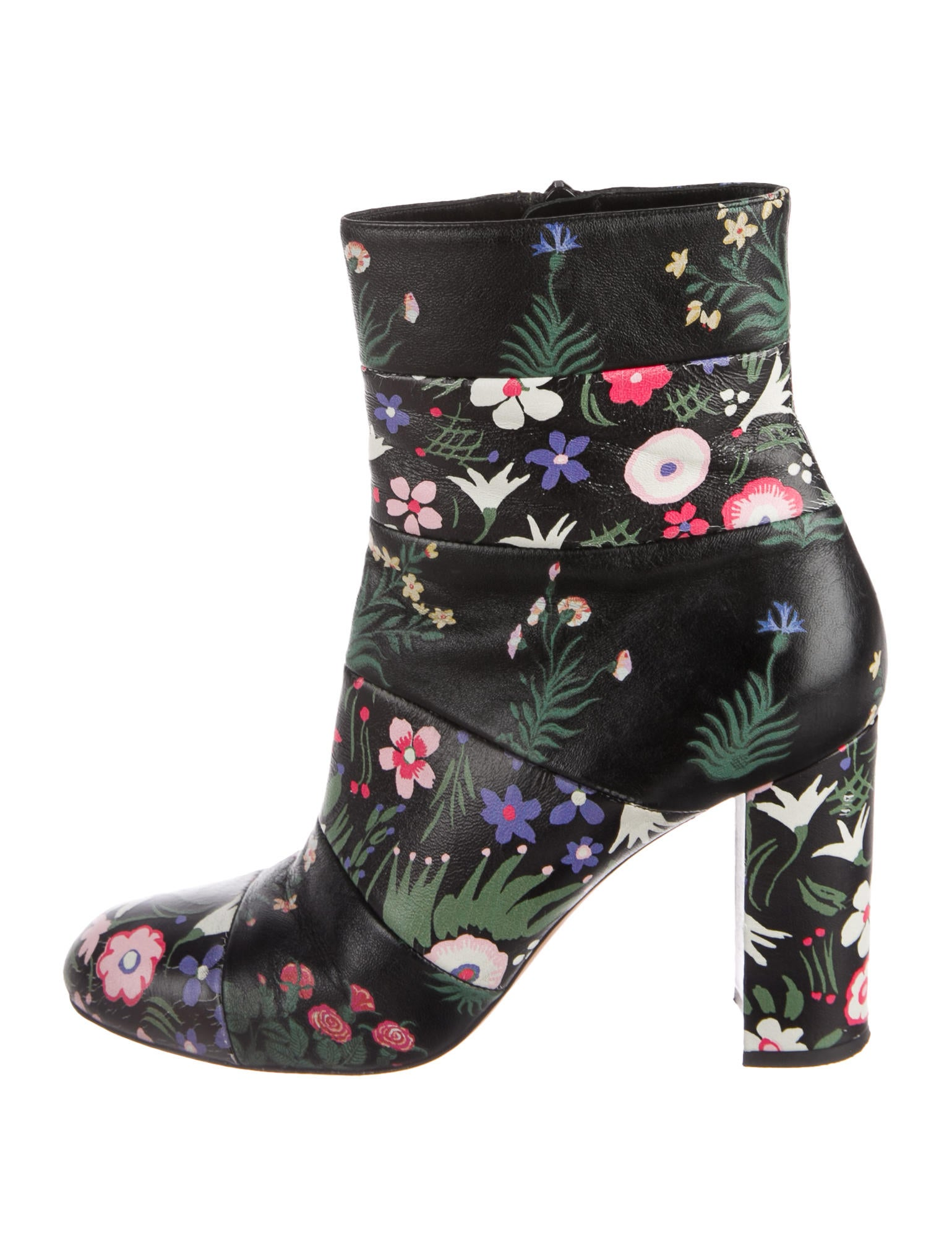 Valentino Spring Garden Leather Ankle Boots clearance footlocker 0XX4rcLO