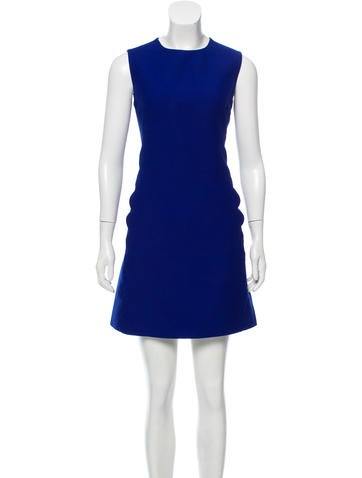 Valentino Scalloped Wool Dress None