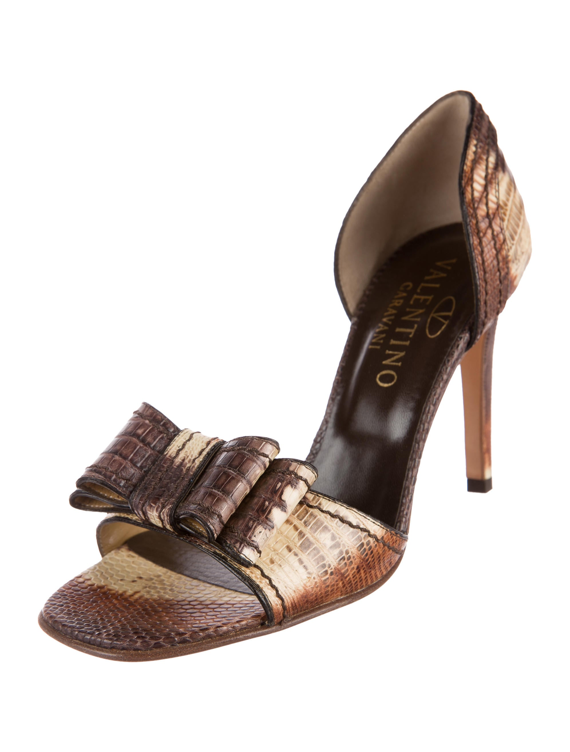 from china online Valentino Lizard Bow-Accented Sandals original cheap online clearance store cheap price cheap sale get authentic outlet manchester great sale WJ7Z2rRR