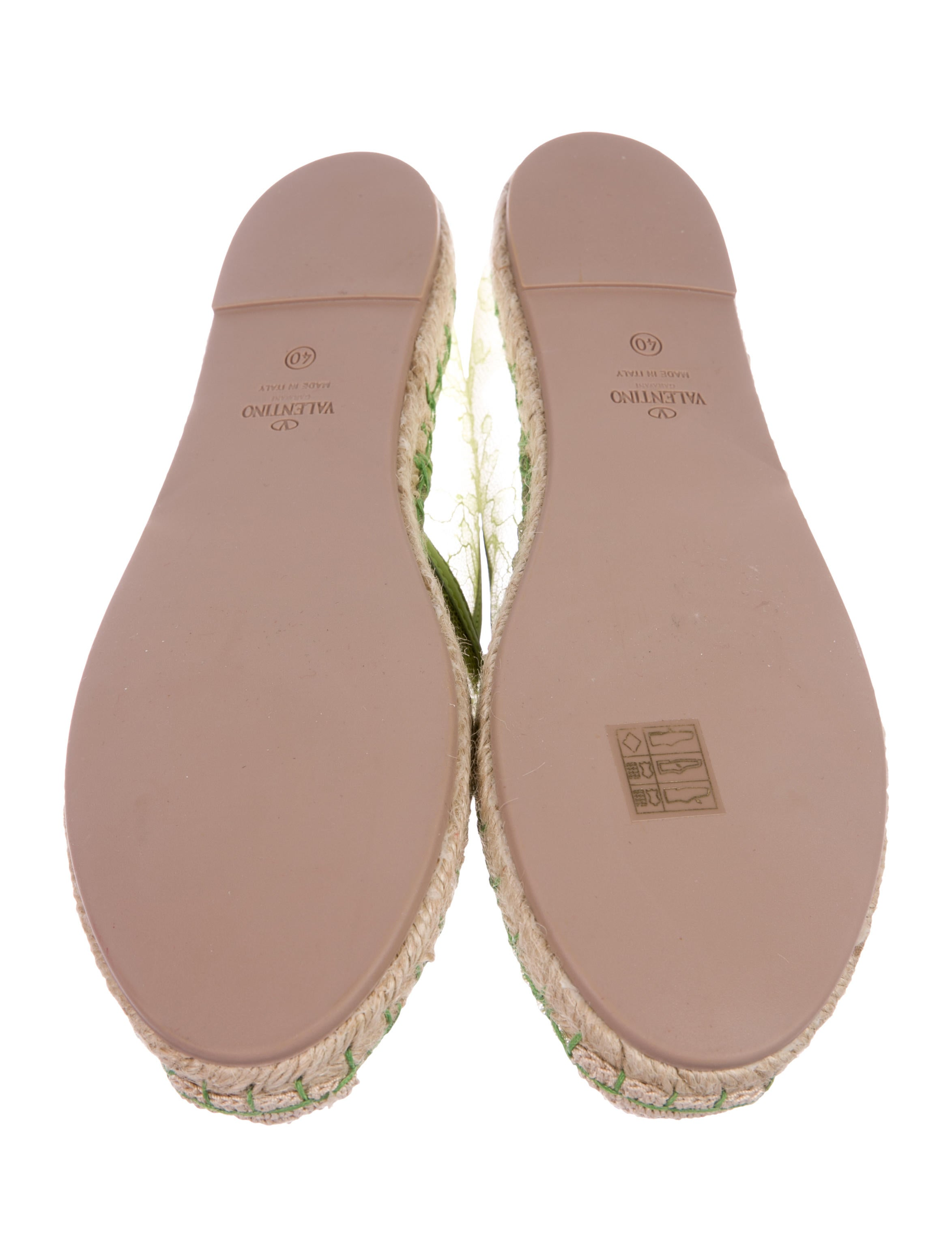 Valentino Lace Espadrille Flats w/ Tags buy cheap huge surprise websites cheap online BfVXox