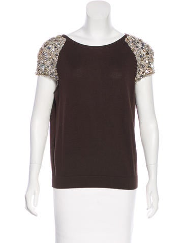 Valentino Wool Embellished Top None